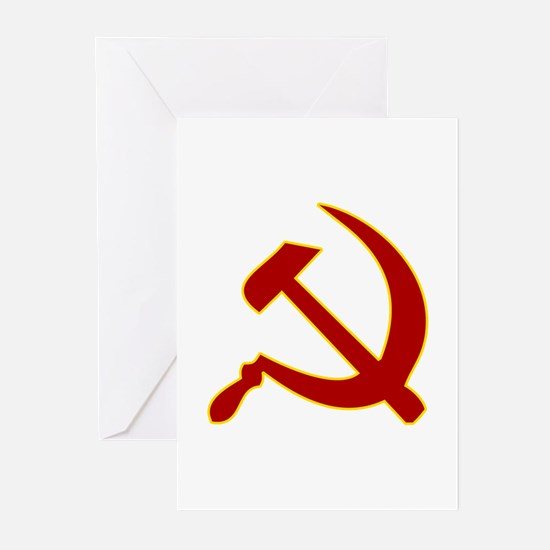 Hammer and Sickle Greeting Cards (Pk of 10)
