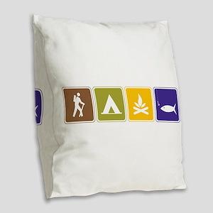 Outdoors Burlap Throw Pillow
