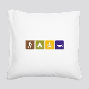 Outdoors Square Canvas Pillow