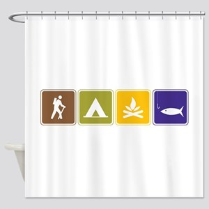 Outdoors Shower Curtain