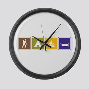 Outdoors Large Wall Clock