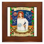 Lady Aries Framed Tile