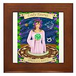 Lady Taurus Framed Tile