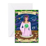 Lady Taurus Greeting Cards (Pk of 10)