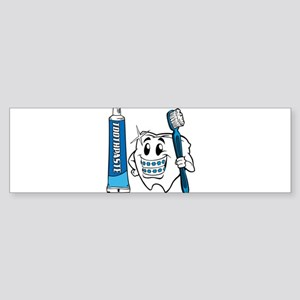 Brush Your Teeth Bumper Sticker