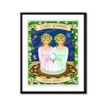 Lady Gemini Framed Panel Print