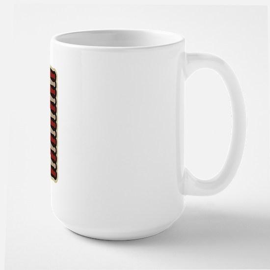 Retro Drummer Drumstick Flag Large Mug