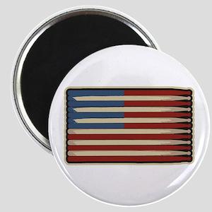 Retro Drummer Drumstick Flag Magnet