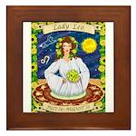Lady Leo Framed Tile