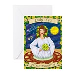 Lady Leo Greeting Cards (Pk of 10)