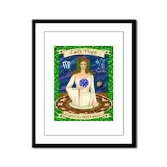 Lady Virgo Framed Panel Print