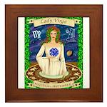 Lady Virgo Framed Tile
