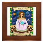 Lady Libra Framed Tile