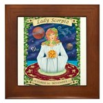 Lady Scorpio Framed Tile