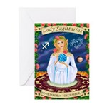 Lady Sagittarius Greeting Cards (Pk of 10)