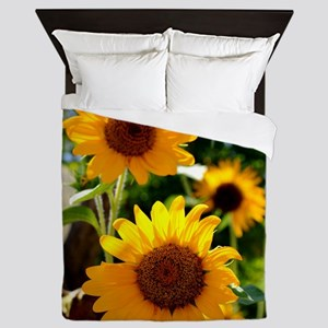 Sunflowers Old Town Albuquerque Queen Duvet