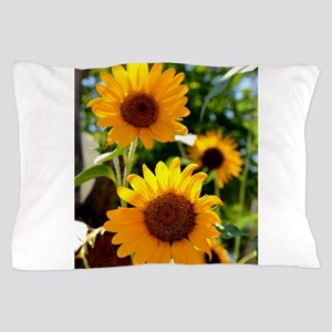 Sunflowers Old Town Albuquerque Pillow Case