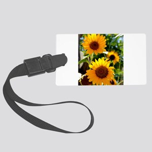 Sunflowers Old Town Albuquerque Luggage Tag