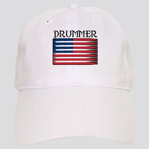 Drummer USA Flag Drumsticks Cap