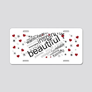 Positive Thinking Text Aluminum License Plate