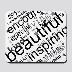 Positive Thinking Text Mousepad