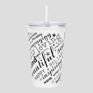 Positive Thinking Text Acrylic Double-wall Tumbler