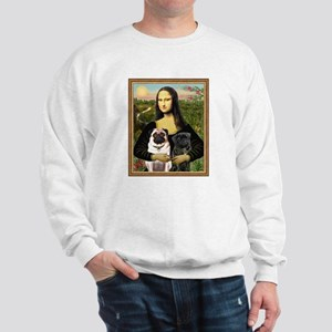 Mona Lisa (new) & Pug Pair Sweatshirt