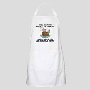 Teach A Man To Fish BBQ Apron