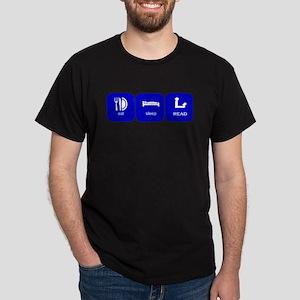 eat sleep read Dark T-Shirt