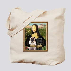 Mona Lisa (new) & Pug Pair Tote Bag