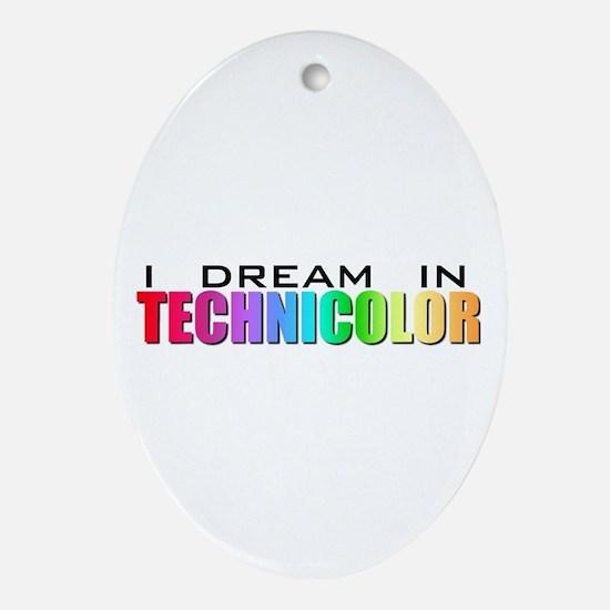 Technicolor Dreamcoat Oval Ornament