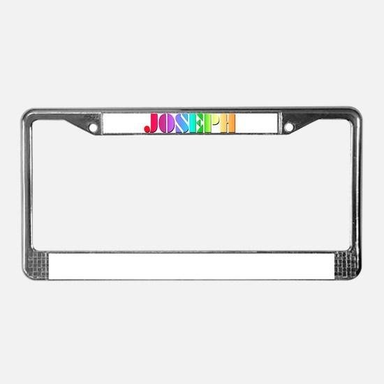 Technicolor Dreamcoat License Plate Frame