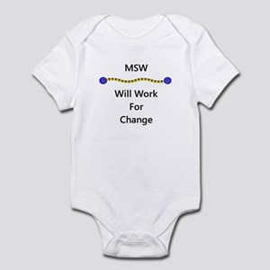 MSW Will Work for Change Infant Bodysuit