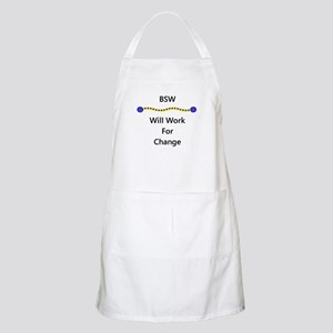 BSW Will Work for Change BBQ Apron