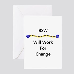 BSW Will Work for Change Greeting Cards (Package o