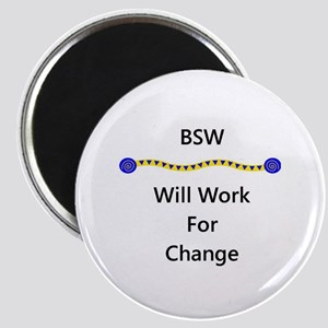 BSW Will Work for Change Magnet