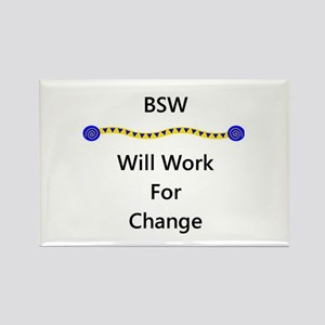 BSW Will Work for Change Rectangle Magnet