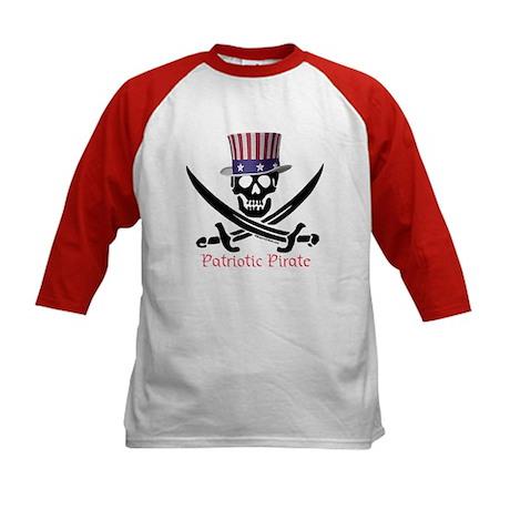 Patriotic Pirate (S) Kids Baseball Jersey