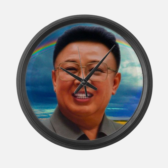 Cute North korea Large Wall Clock