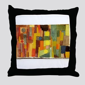 Paul Klee In The Style Of Kairouan Throw Pillow