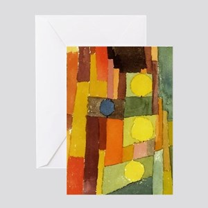 Paul Klee In The Style Of Kairouan Greeting Cards