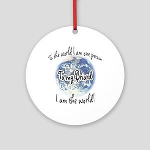 Briard World2 Ornament (Round)