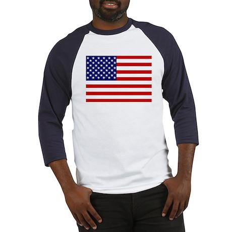 Patrtiotic American Flag Baseball Jersey