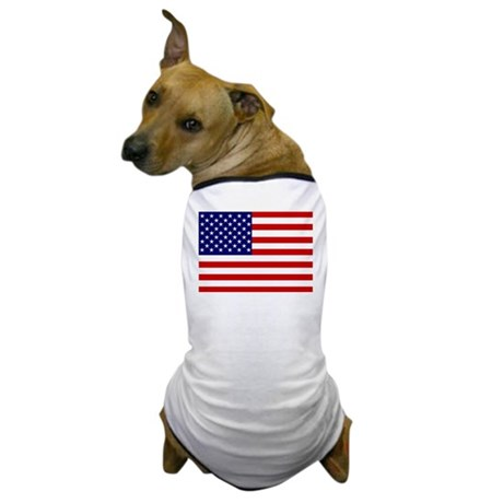 Patrtiotic American Flag Dog T-Shirt