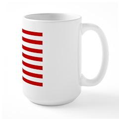 Patrtiotic American Flag Large Mug