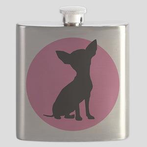 Polka Dot Chihuahua - Flask