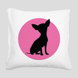 Polka Dot Chihuahua - Square Canvas Pillow