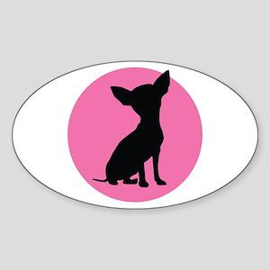 Polka Dot Chihuahua - Sticker (Oval)