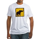Elephant Crossing Fitted T-Shirt