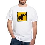Elephant Crossing White T-Shirt